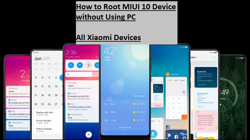 Root MIUI 10 Device without Using PC