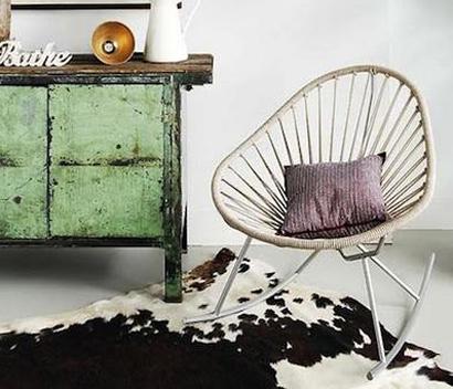 silla moderna de estilo nordico