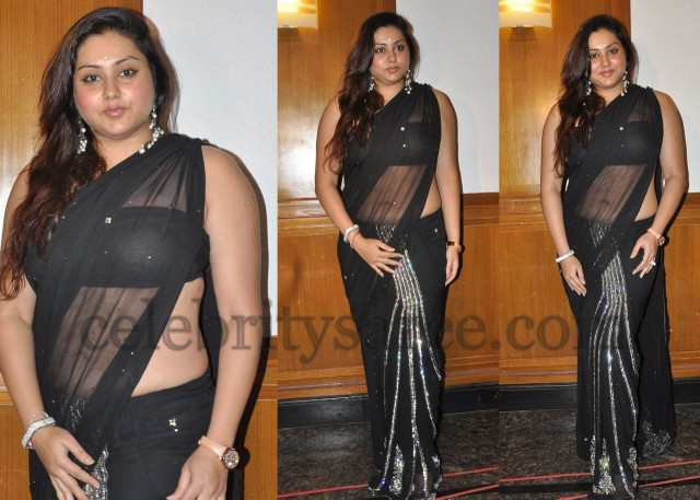Namitha in Black Designer Saree