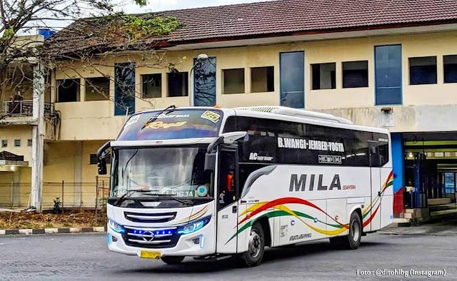 JADWAL BUS MILA RUTE YOGYAKARTA - BANYUWANGI