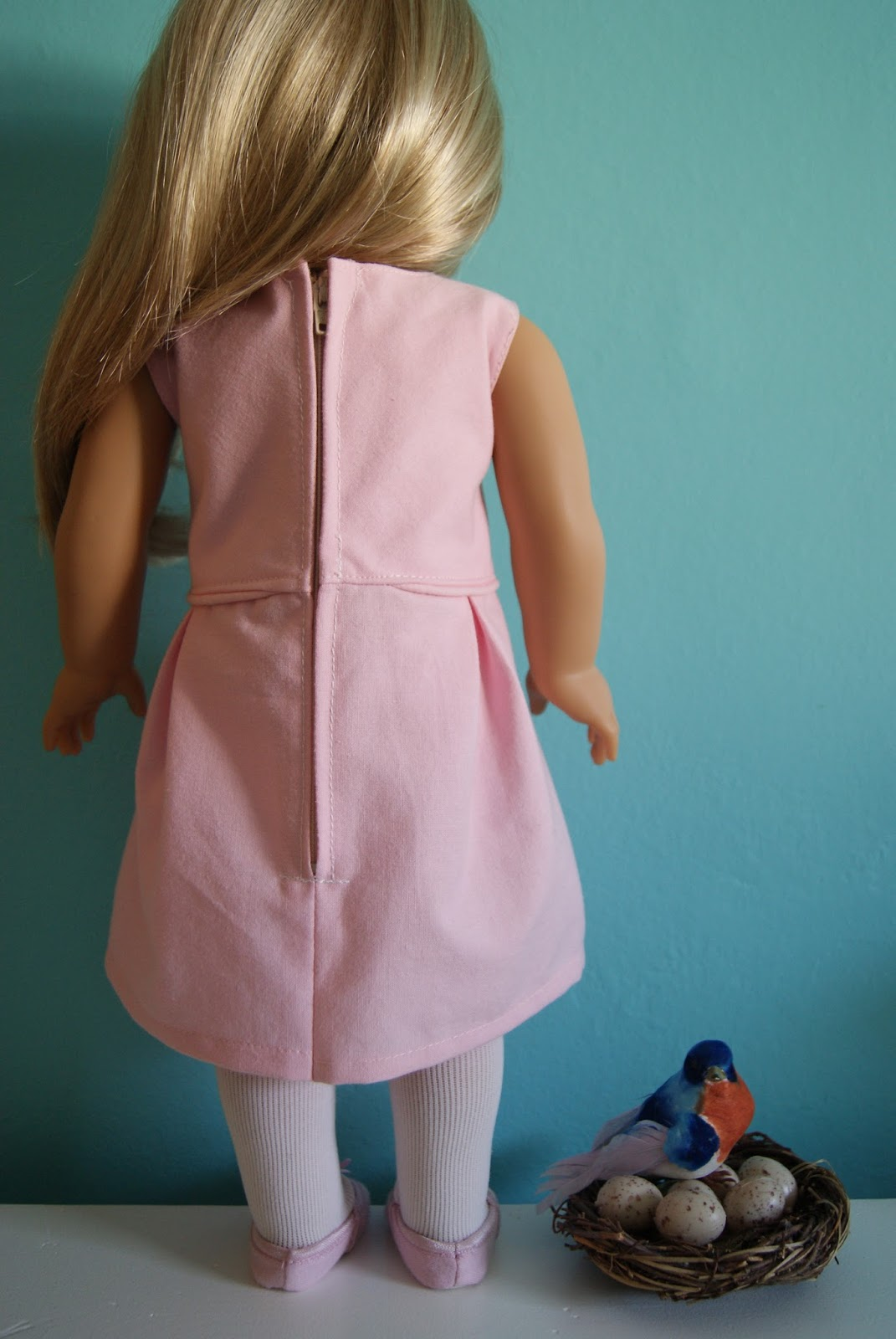 Katie 18-inch doll dress by nest full of eggs