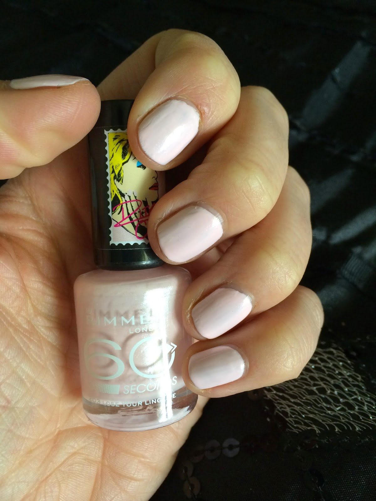 It Is A Lovely Pearlised Pink Very Light I Love Polishes Like This Especially If They Have That Hint Of Sheen In Them