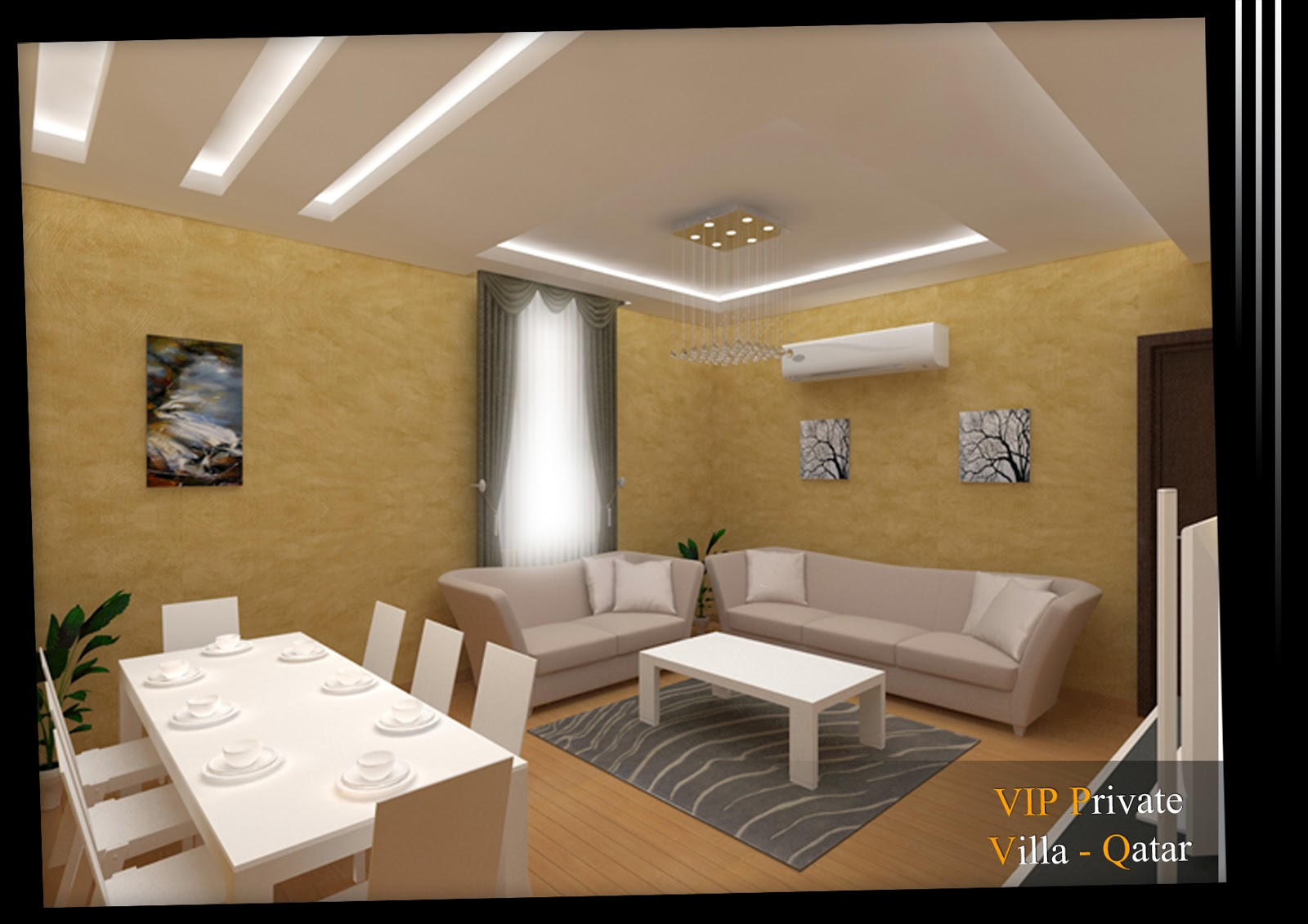 Arch michael boules interior design for living room qatar for Interior design qatar