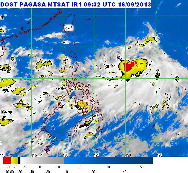 Typhoon Odette 2013 satellite image