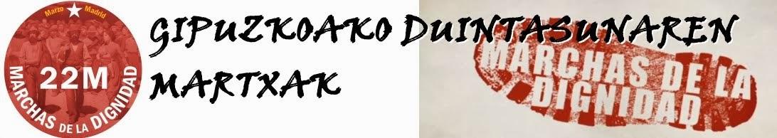 Colectivo de apoyo a Duintasun Martxak en Gipuzkoa