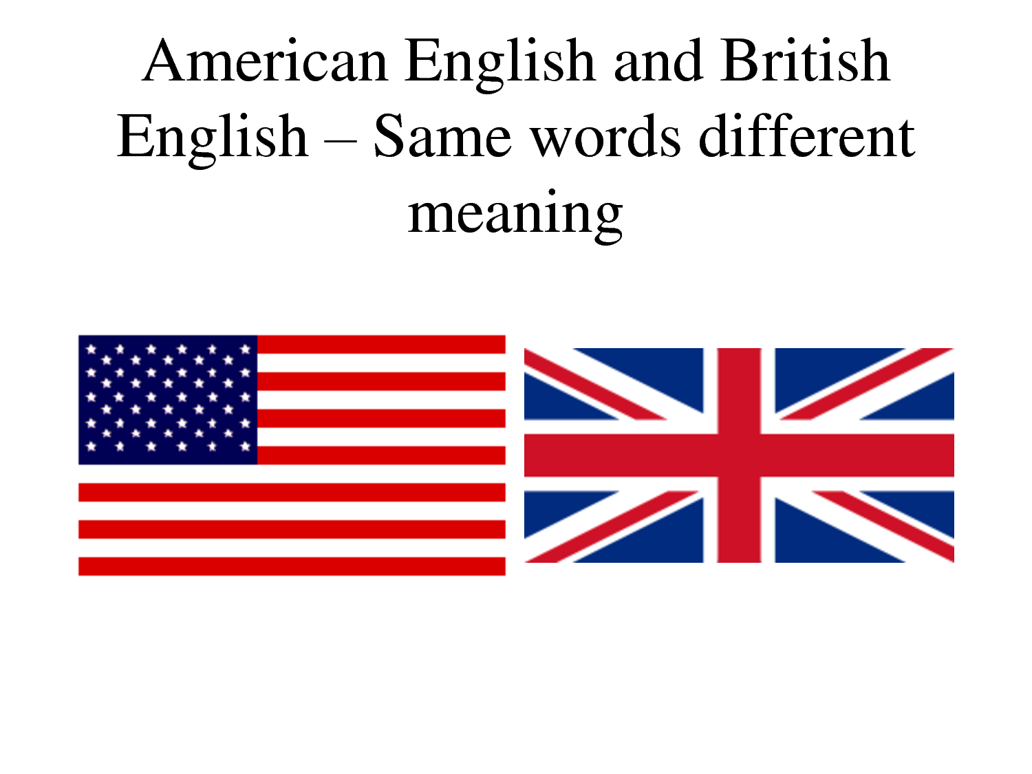 difference between american and british english essay Open document below is an essay on american and british english from anti essays, your source for research papers, essays, and term paper examples.