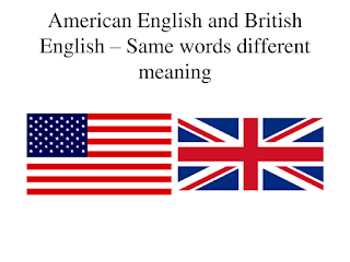 List of words having different meanings in American and