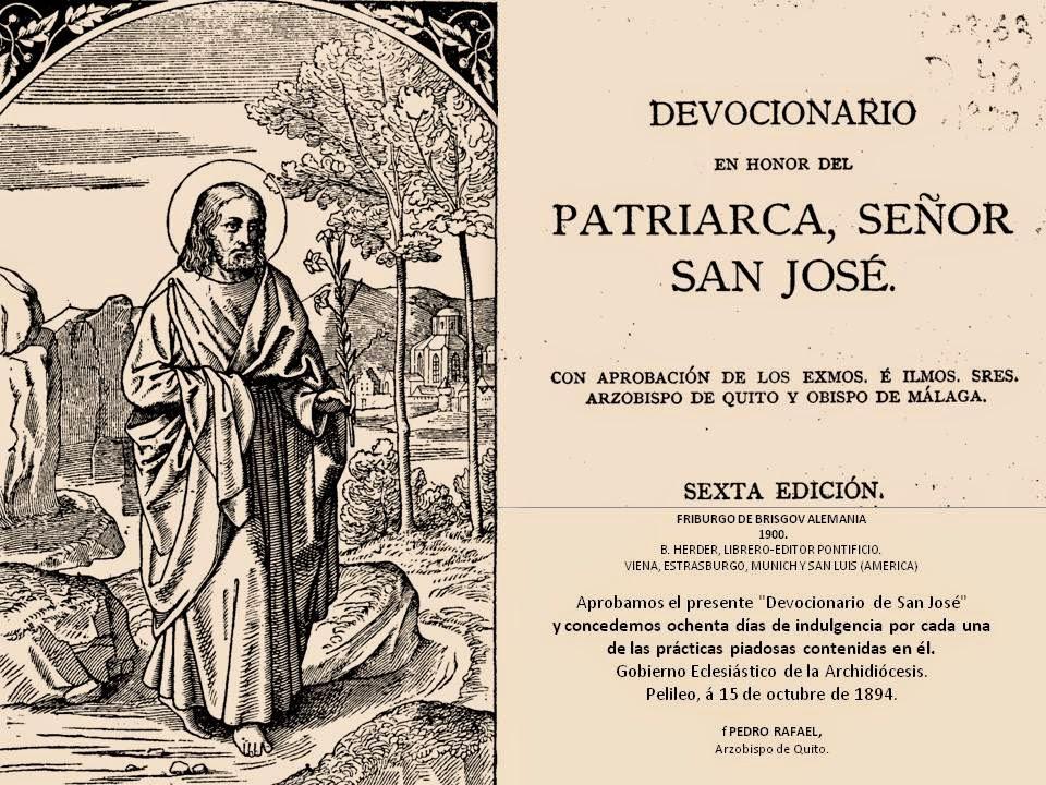 ANTIGUO DEVOCIONARIO A SAN JOSÉ: