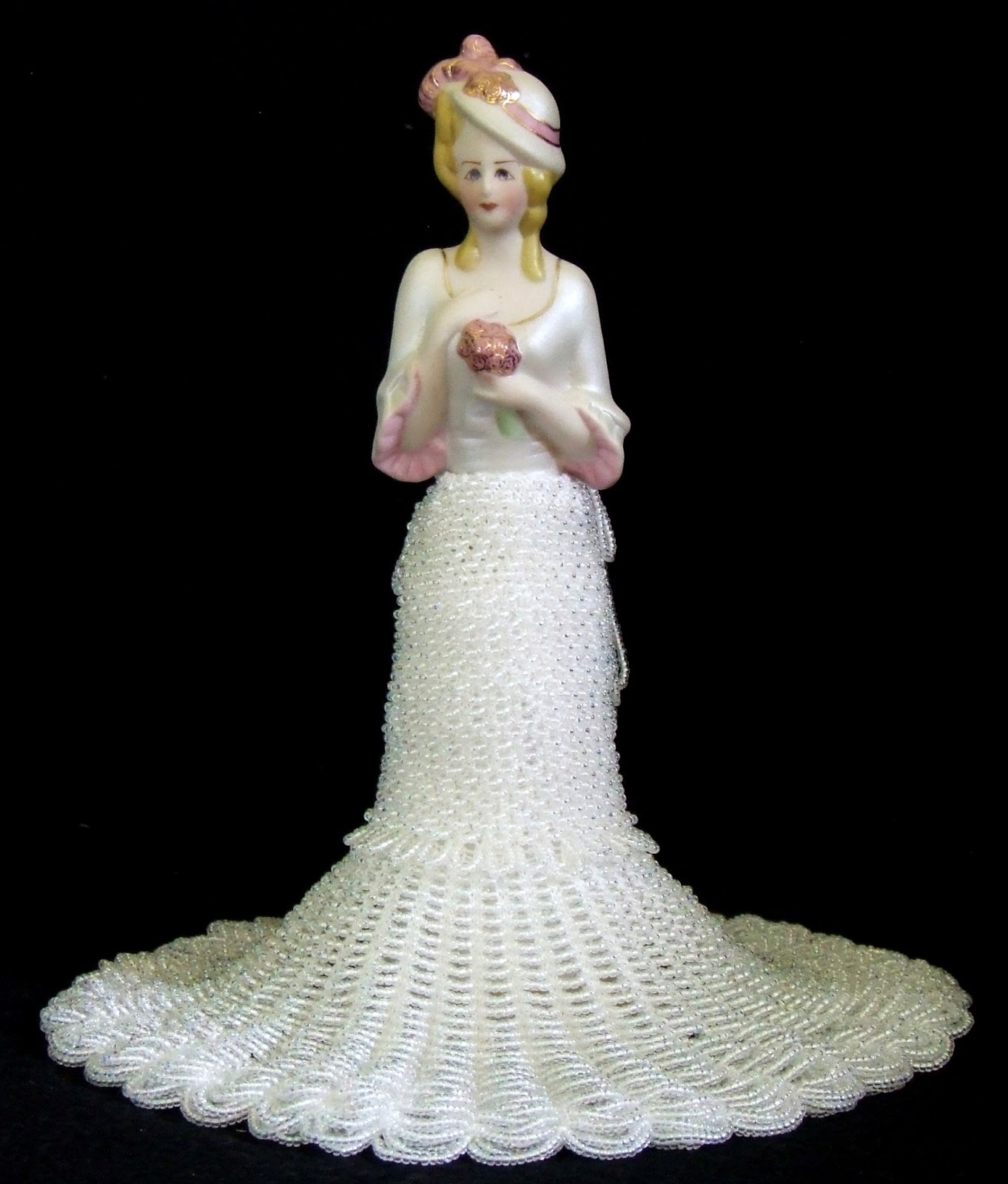 Beaded Knitting Patterns Half Dolls : Beading Belles: Half Doll Camilla and the Wedding Party