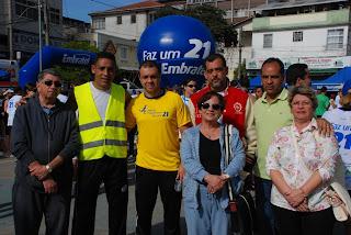 Os secretários municipais, Alexandre da Trindade, de Esporte e Lazer, e Marco Antonio da Luz, da Segurança Pública, estiveram presentes durante todo o evento