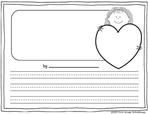 Valentine writing paper kindergarten