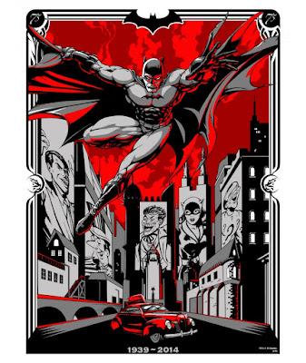 "Batman 75th Anniversary Screen Print Series - ""Batman: 1939-2014"" by BadMoon Studios"