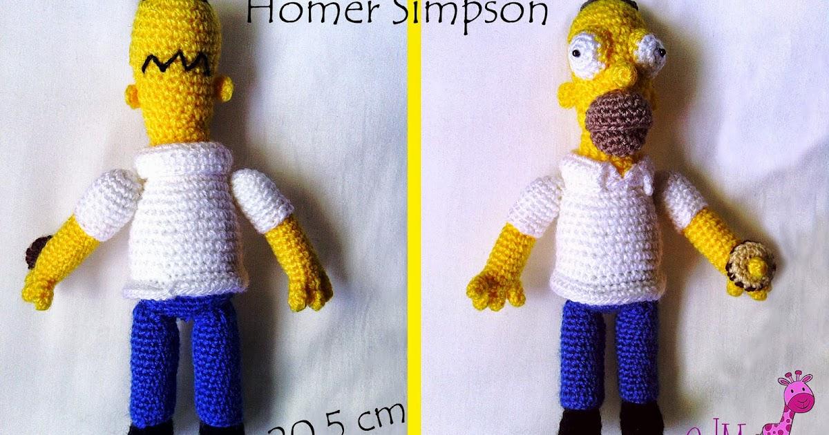 Homer simpson amigurumi que de manualidades - Homer simpson tout nu ...