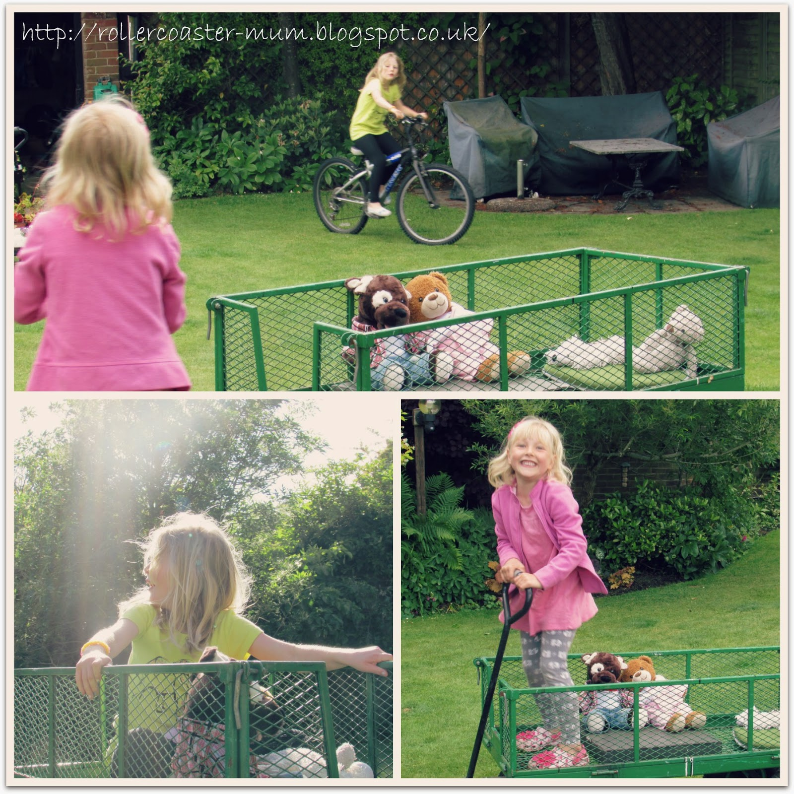 Fun with the garden trolley