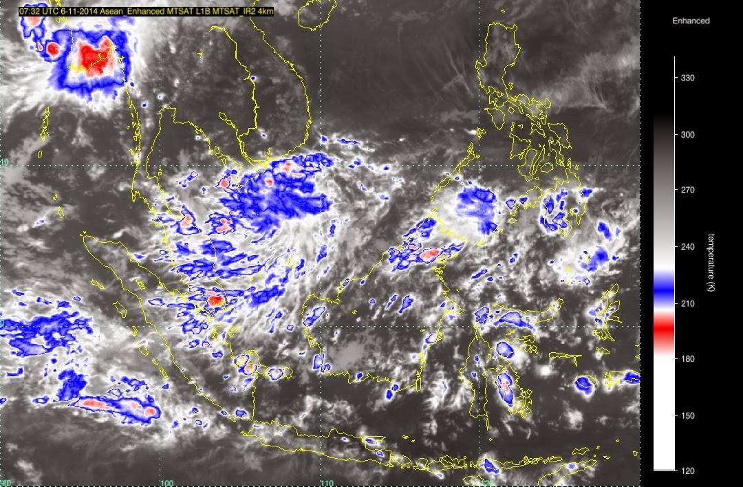 Imej radar cuaca Malaysia 6-11-14