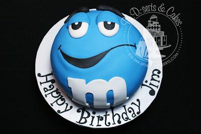 blue m&m cake fondant
