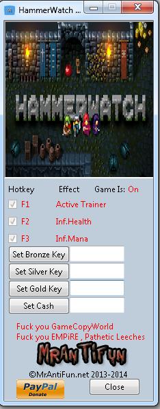 HammerWatch V1.22 Trainer +6 MrAntiFun