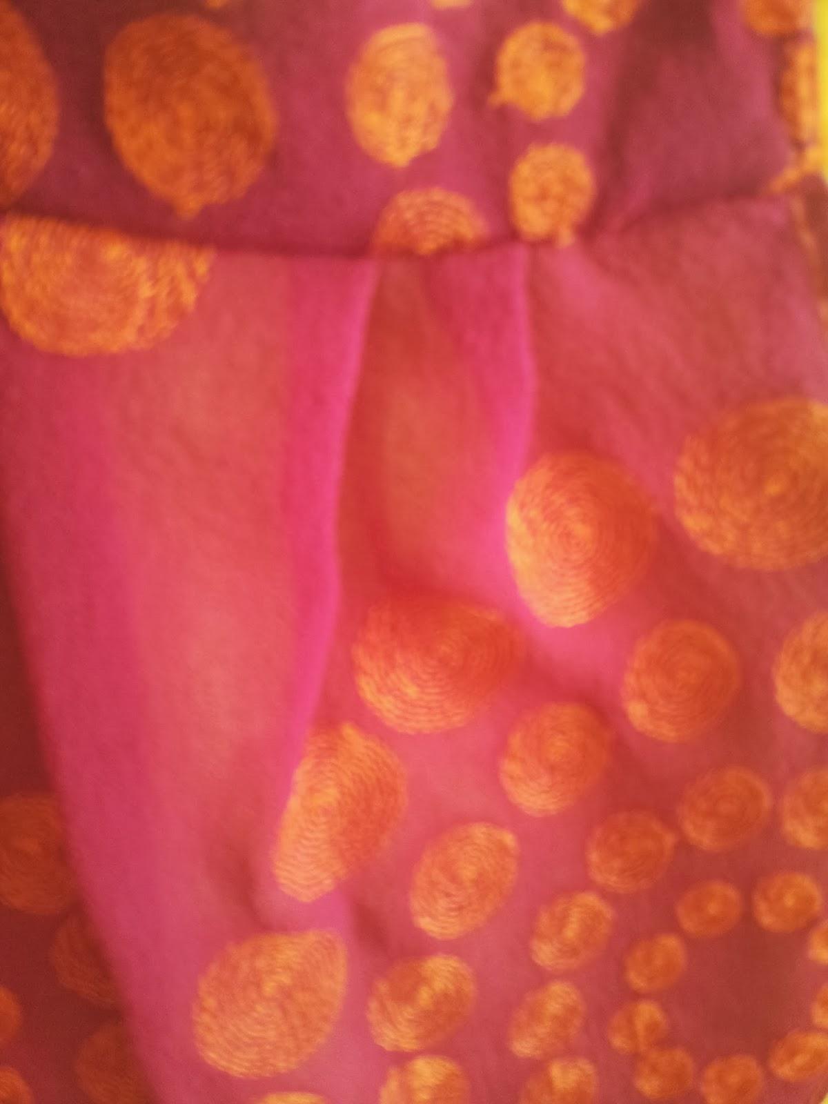 cepli sari elbise