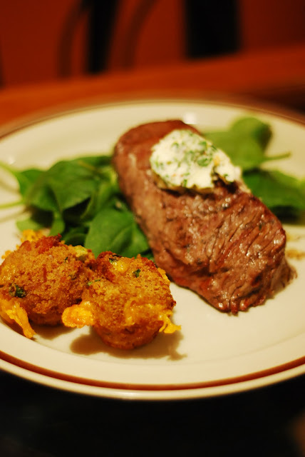 Stuffed Fillet Steak, And Savory Cheese And Bacon Muffins