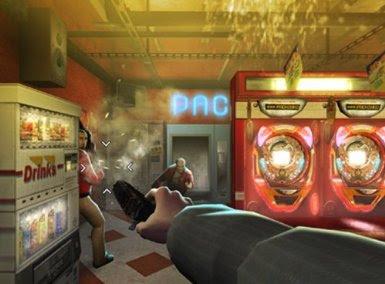 Player shooting at enemies in Red Steel