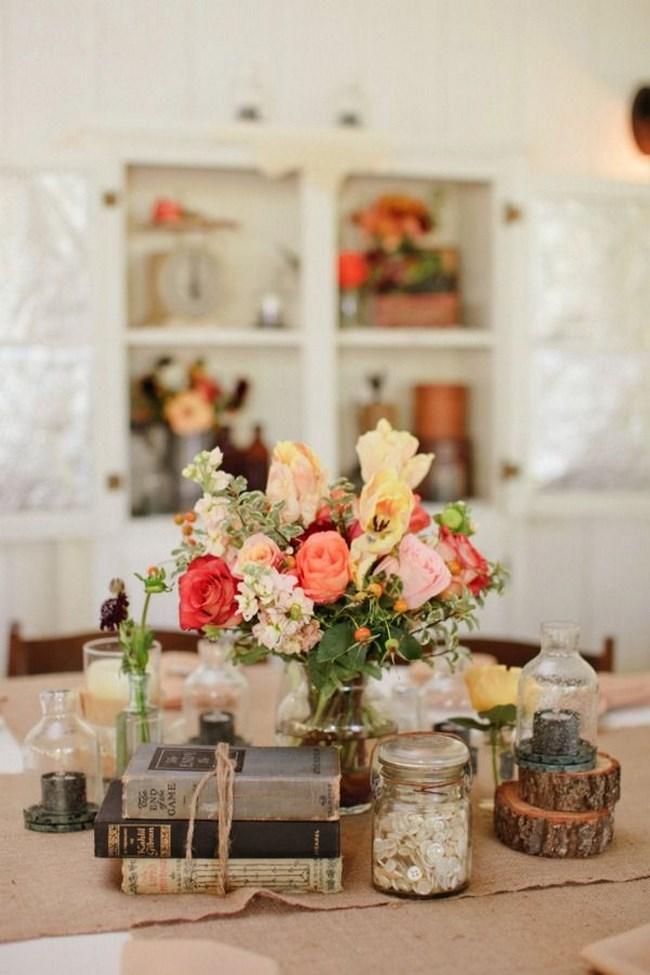 15 centros de mesa vintage para boda Centros de Mesa
