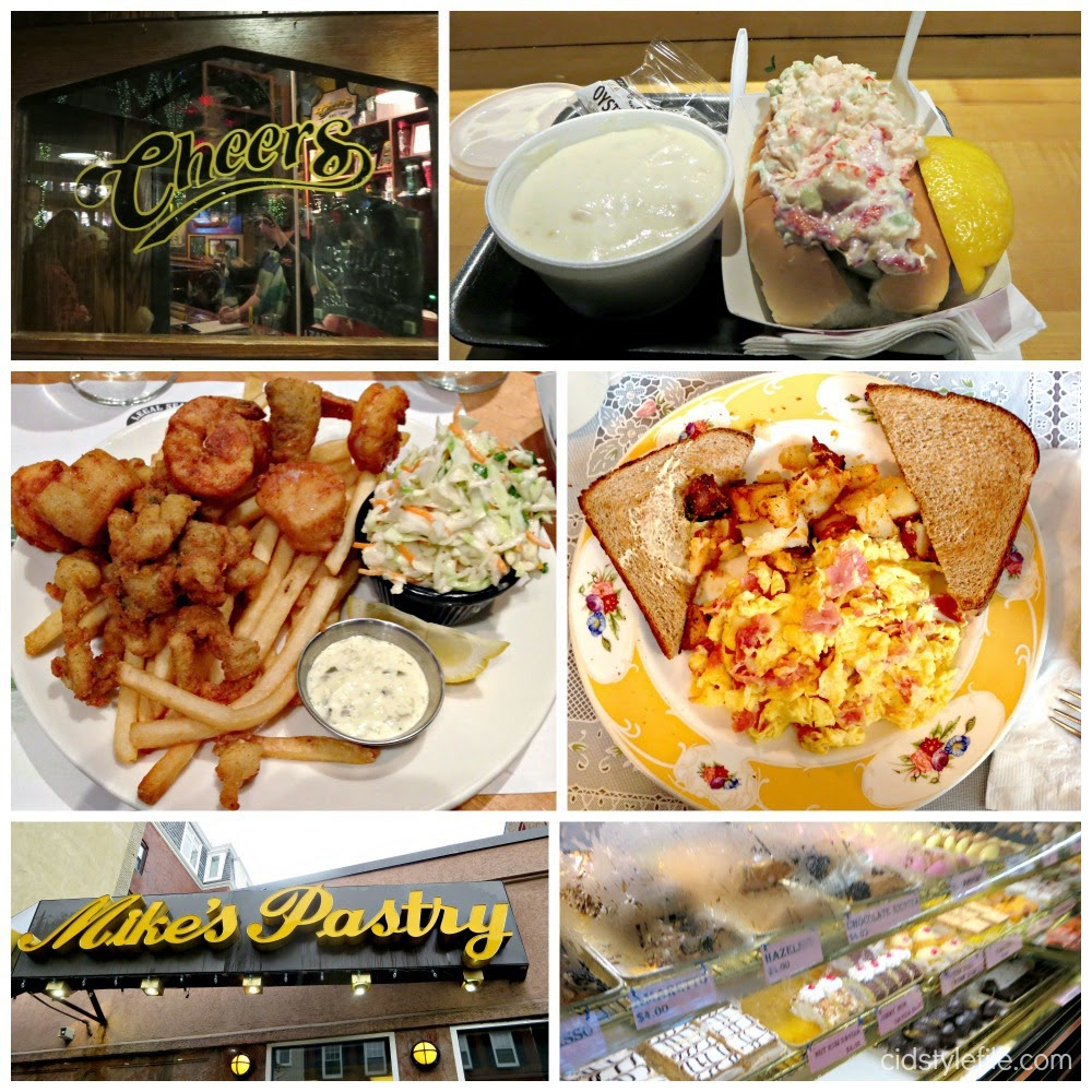 calm chowder, lobster roll, mikes pastry, cannoli, seafood, quincy market, best places to eat