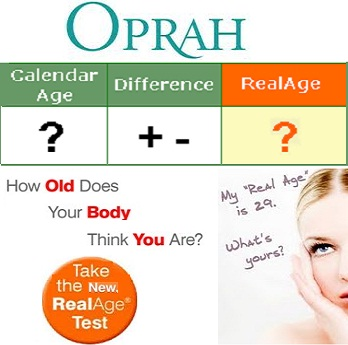 Oprah.com Real Age Test Tool for better Living