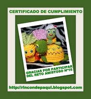 Certificado reto amistoso #16