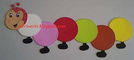 Mini centopéia - diâmetro de cada círculo: 12cm