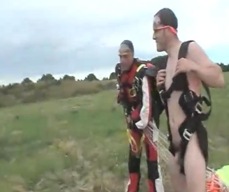 Naked Man Skydiving 5