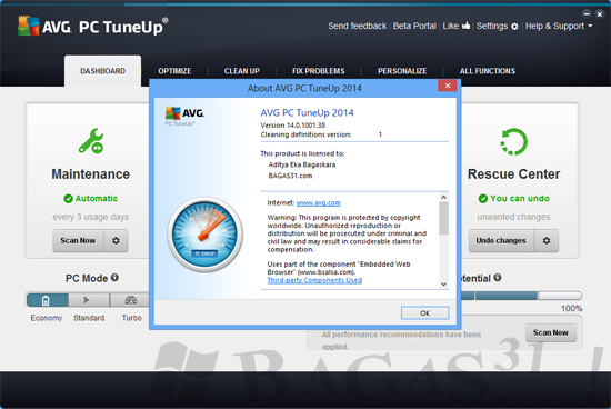 AVG PC TuneUp 2014 Full Activator 1