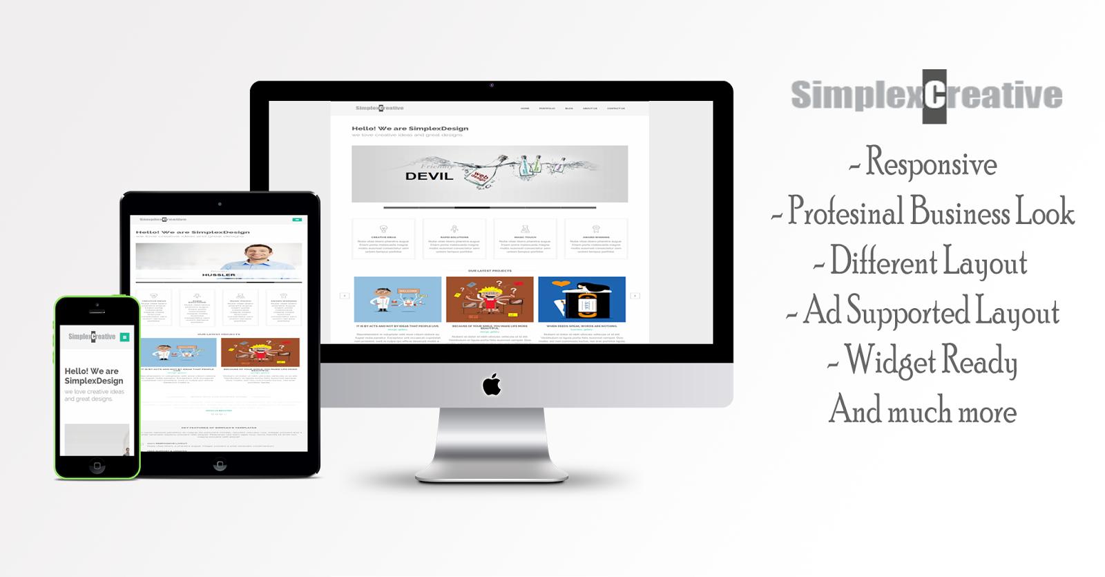 Chia sẻ template blogspot làm website công ty