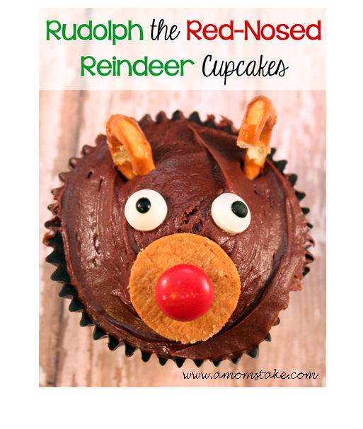 Reindeer Christmas Cupcakes @ A Mom's Take