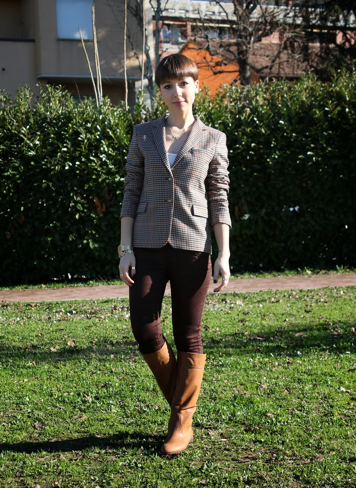 Zara blazer and skinny pants