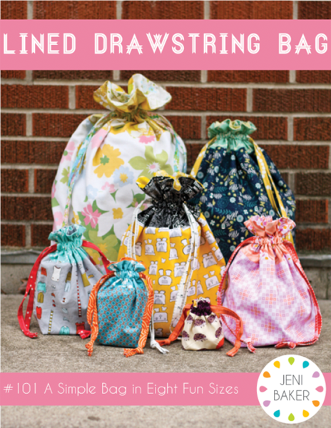 Jeni Baker's Lined Drawstring Bag Pattern