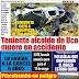 Muere Teniente Alcalde del Distrito de  Uco al despistarse su camioneta