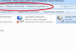 Cara Memunculkan Wifi Yang Ter Disable di Windows 7