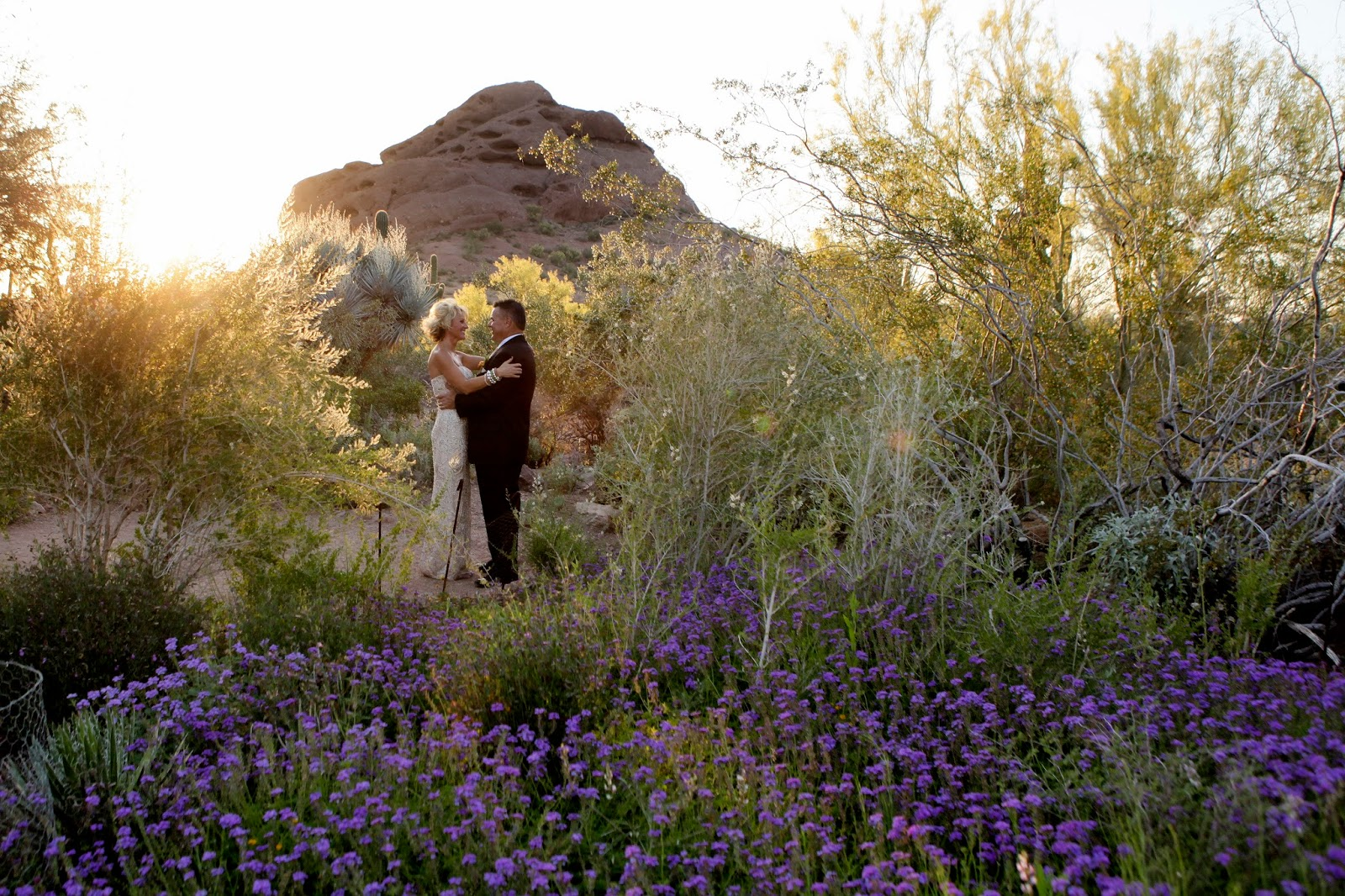 meant2be events: real wedding: meant2be events & desert botanical garden