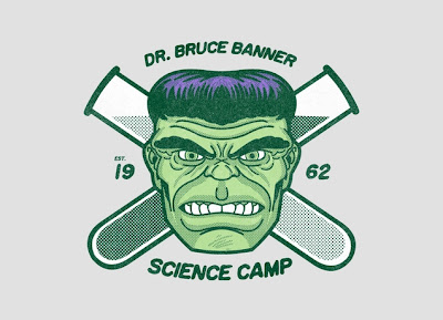 "Marvel x Threadless The Incredible Hulk T-Shirt Collection - ""Dr. Bruce Banner Science Camp"""