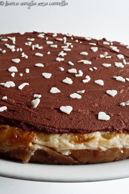 cheesecake mascarpone al forno e ganache al cioccolato