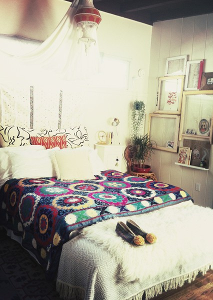 Bohemian Bedroom African Inspired Fabrics And Colours