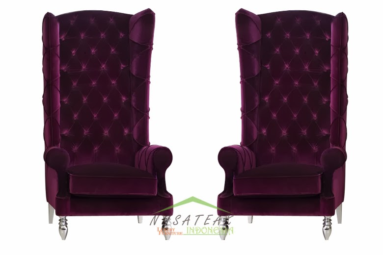 Legra Purple High Back Chair