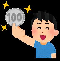 ワンコインのイラスト(100円玉)