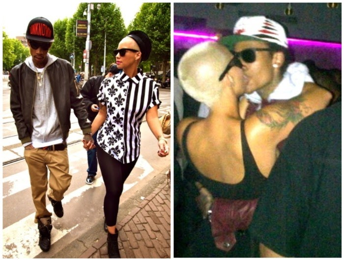 amber rose and wiz khalifa in paris. Wiz Khalifa and his girlfriend