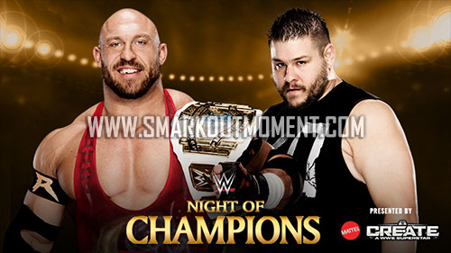 WWE Night of Champions 2015 IC Title Match Owens vs Ryback