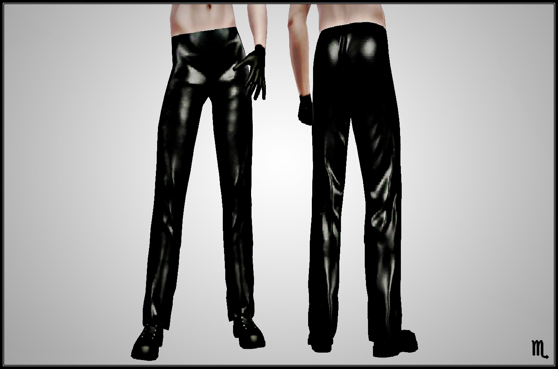 White latex pants