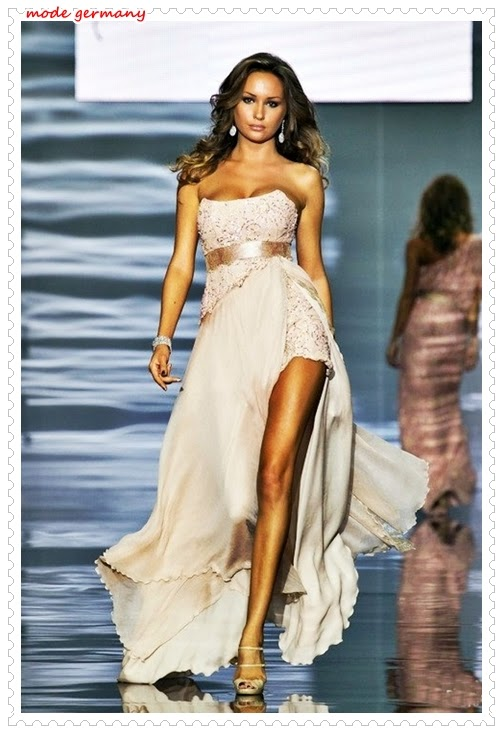 Trägerlos Abendkleider Mode 2014