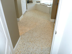 Pebble Mosaic Master Bathroom Floor