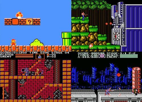 Super Mario Bros, Contra, Castlevania, Ninja Gaiden