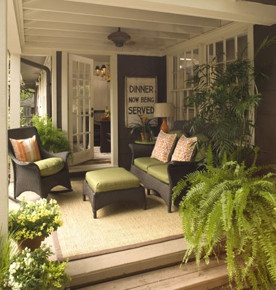 Beauty Tutorials Love Love Living Room On A Porch With Dark Gray Wicker Patio Furniture